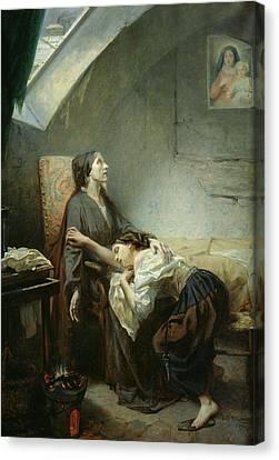 The Suicide Canvas Print by Octave Tassaert
