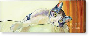 The Sunbather Canvas Print by Pat Saunders-White
