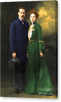 The Sundance Kid Harry Longabaugh And Etta Place 20130515 Canvas Print by Wingsdomain Art and Photography