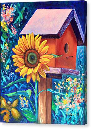 The Sunflower Suite Canvas Print by Eve  Wheeler