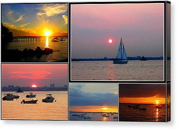 The Sunsets Of Long Island Canvas Print by Dora Sofia Caputo Photographic Art and Design