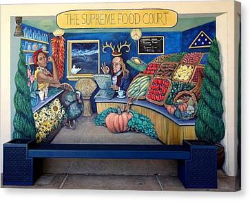 The Supreme Food Court Canvas Print by Elizabeth Criss