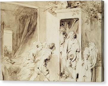 The Surprised Lover Canvas Print by Jean-Honore Fragonard