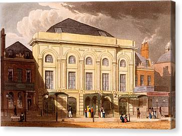 The Surrey Theatre, London, 1826 Canvas Print by Daniel Havell