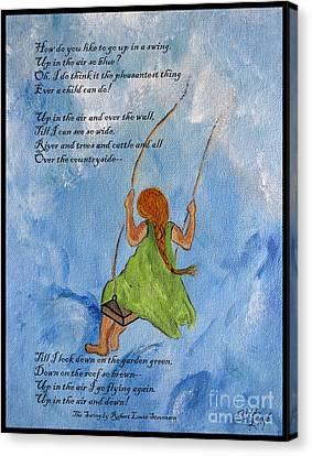 The Swing Canvas Print by Ella Kaye Dickey