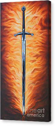 The Sword Of The Spirit Canvas Print by Ilse Kleyn