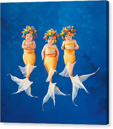 The Synchronized Swim Team Canvas Print by Anne Geddes