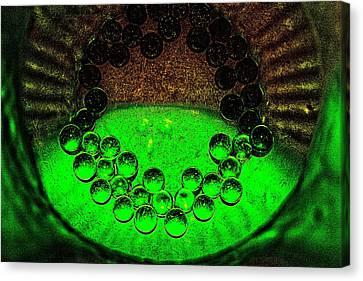 The Syntropy Of Glass Pebbles Within A Deep Vase Canvas Print by Sandra Pena de Ortiz