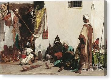 The Tailors Shop Canvas Print by Jean Joseph Benjamin Constant