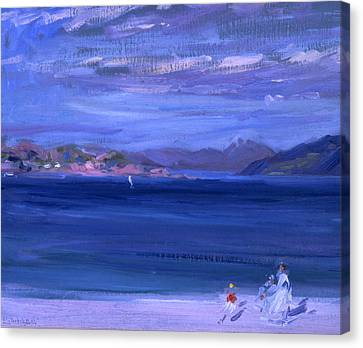 The Tale Of Mull From Iona Canvas Print by Francis Campbell Boileau Cadell