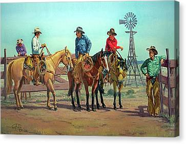 The Tale Spinner Canvas Print by Randy Follis