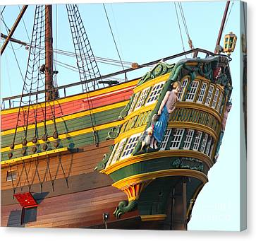 The Tall Clipper Ship Stad Amsterdam - Sailing Ship  - 08 Canvas Print by Gregory Dyer