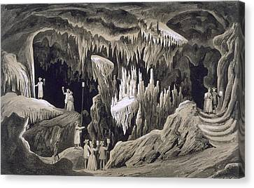 The Tapestry Room, Weyers Cave, Augusta Canvas Print by Edward Beyer