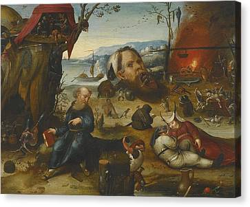 The Temptation Of Saint Anthony Canvas Print by Celestial Images