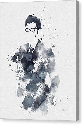 The Tenth Doctor Canvas Print by Rebecca Jenkins