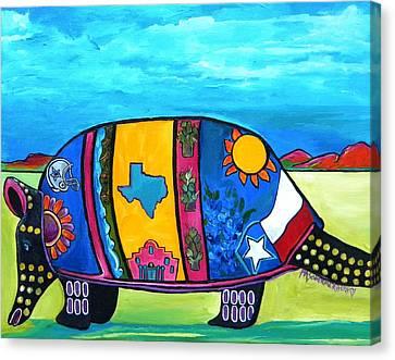 The Texas Armadillo Canvas Print by Patti Schermerhorn