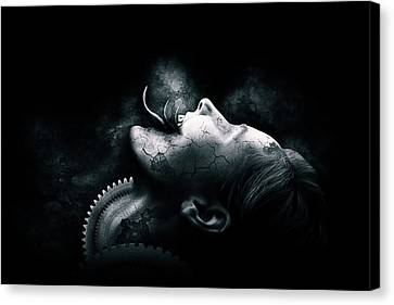 The Thing Inside Canvas Print by Aj Collyer