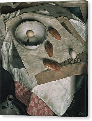 The Three Bread Rolls Canvas Print by Dick Ket