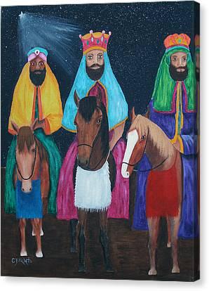 The Three Kings Canvas Print by Gloria E Barreto-Rodriguez
