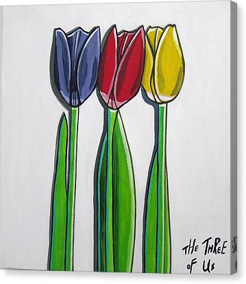The Three Of Us Canvas Print by Sandra Marie Adams