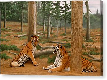 The Tigers Canvas Print by Art Spectrum
