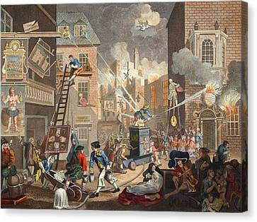 The Times, Plate I, Illustration Canvas Print by William Hogarth