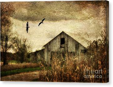 The Times They Are A Changing Canvas Print by Lois Bryan