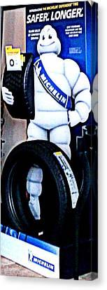 The Tire Man Canvas Print by Pamela Hyde Wilson