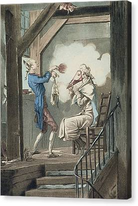 The Toilet Of An Attorneys Clerk Canvas Print by Antoine Charles Horace Vernet
