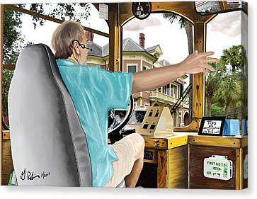 The Tour Guide Canvas Print by Gerry Robins
