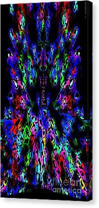 The Tower In Abstract Art Canvas Print by Mario Perez