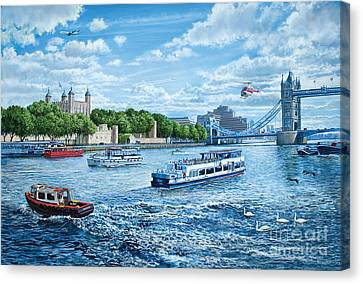 The Tower Of London Canvas Print by Steve Crisp