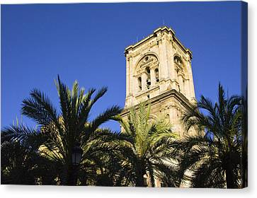The Tower Of The Cathedral Of The Incarnation Canvas Print by John Rocha