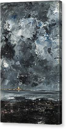 The Town Canvas Print by August Strindberg