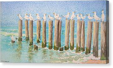 The Town Meeting Canvas Print by Mary Ellen Mueller Legault