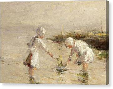 The Toy Boat Canvas Print by Robert Gemmel Hutchison