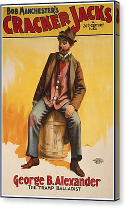 The Tramp Balladist Canvas Print by Aged Pixel