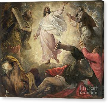 The Transfiguration Of Christ Canvas Print by Titian