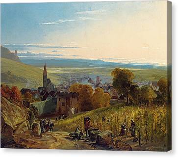 The Travellers Canvas Print by Christian Ernst Bernhard Morgenstern