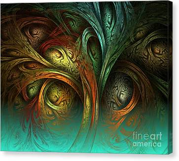 The Tree Of Life Canvas Print by Sandra Bauser Digital Art