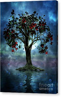 The Tree That Wept A Lake Of Tears Canvas Print by John Edwards