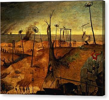 The Triumph Of Death Canvas Print by Pieter the Elder Bruegel