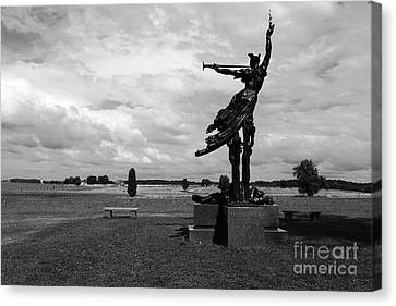 The Trumpet Sounds At Gettysburg Canvas Print by James Brunker