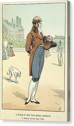 The Tuileries Gardens Canvas Print by British Library
