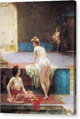 The Turkish Bath, 1896 Oil On Canvas Canvas Print by Serkis Diranian