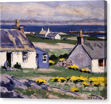 The Two Crofts Canvas Print by Francis Campbell Boileau Cadell