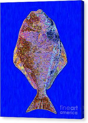 The Ugly Fish 20130723di Canvas Print by Wingsdomain Art and Photography