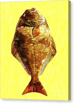 The Ugly Fish 20130723mu Canvas Print by Wingsdomain Art and Photography