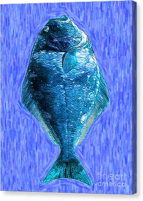 The Ugly Fish 20130723mup180 Canvas Print by Wingsdomain Art and Photography