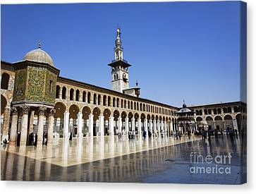 The Umayyad Mosque Damascus Syria Canvas Print by Robert Preston